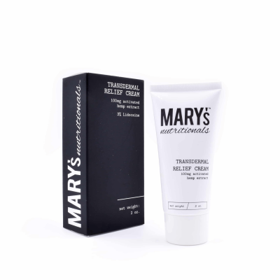 Mary's Nutritionals Transdermal Relief Cream 100mg