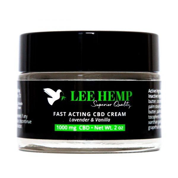 Lee Hemp Fast Acting Lavender + Vanilla CBD Cream 1000 mg