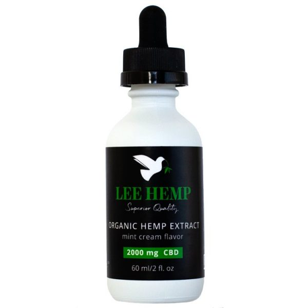 Lee Hemp Mint Cream Tincture - 2000 mg