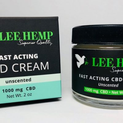 Lee Hemp Fast Acting Unscented CBD Cream 1000 mg