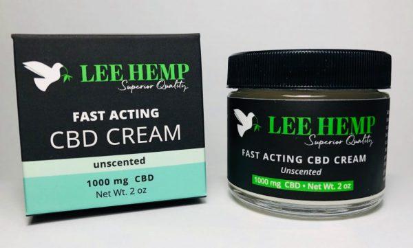 Lee Hemp Fast Acting Unscented CBD Cream 1000 mg