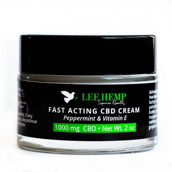 Lee Hemp Fast Acting Peppermint + Vitamin E CBD Cream 1000 mg